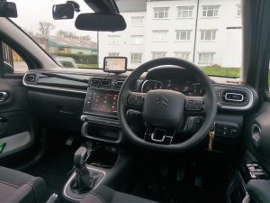 The internal of Tim Walsh's Driving School instructor car